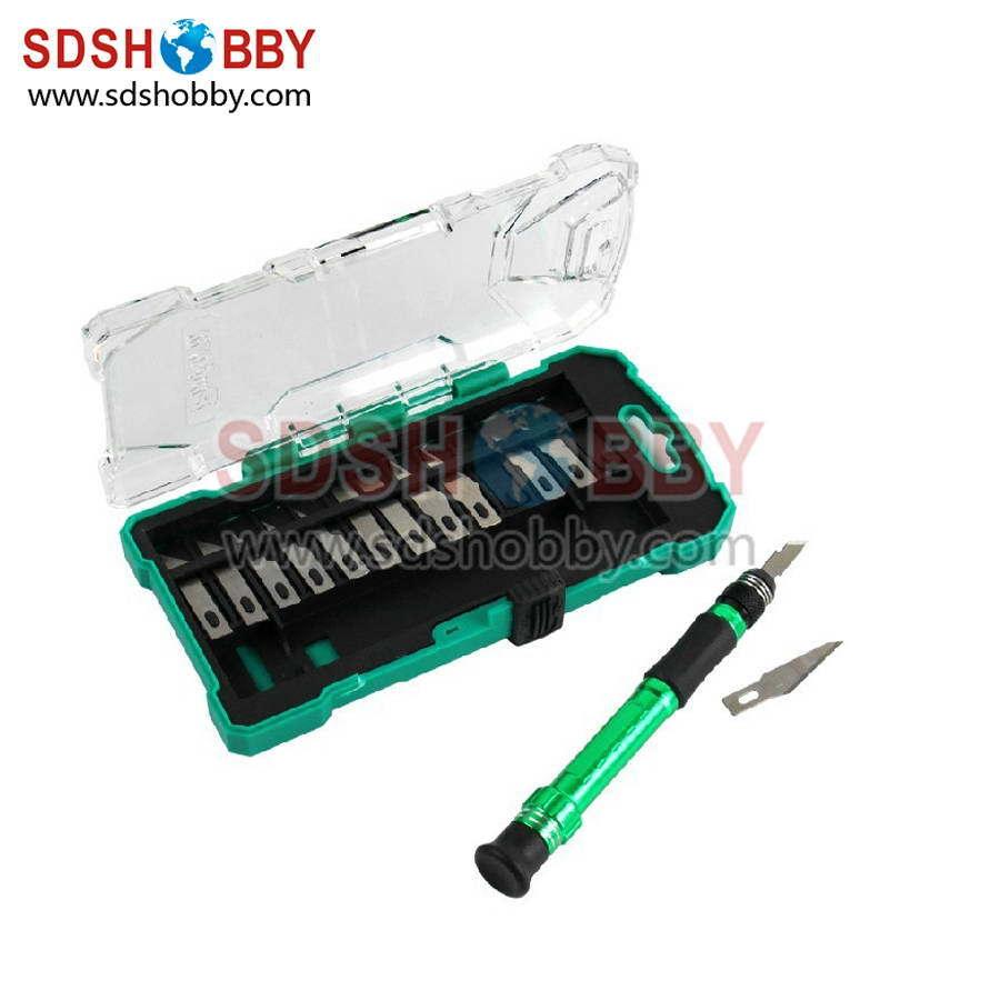 RC Model Tools Proskit PD-398 Aluminum Handle Knife Set +13 Interchangeable Blades Hobby Knife Kit(China (Mainland))