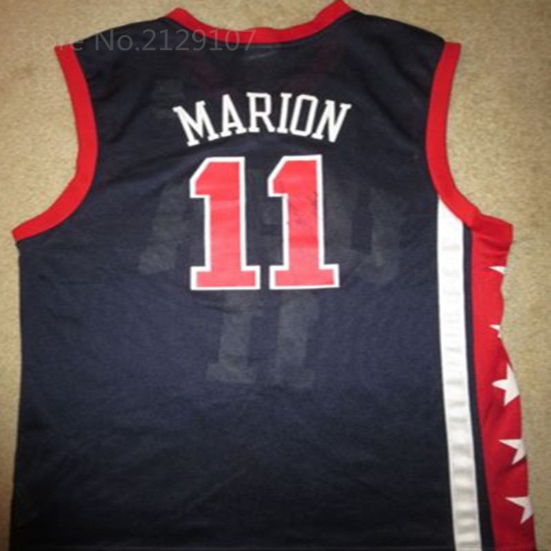 product Fast Free Shipping Cheap mens Shawn Marion #11 TEAM USA US Olympics Jersey Med Retro throwback high-quality basketball Jersey