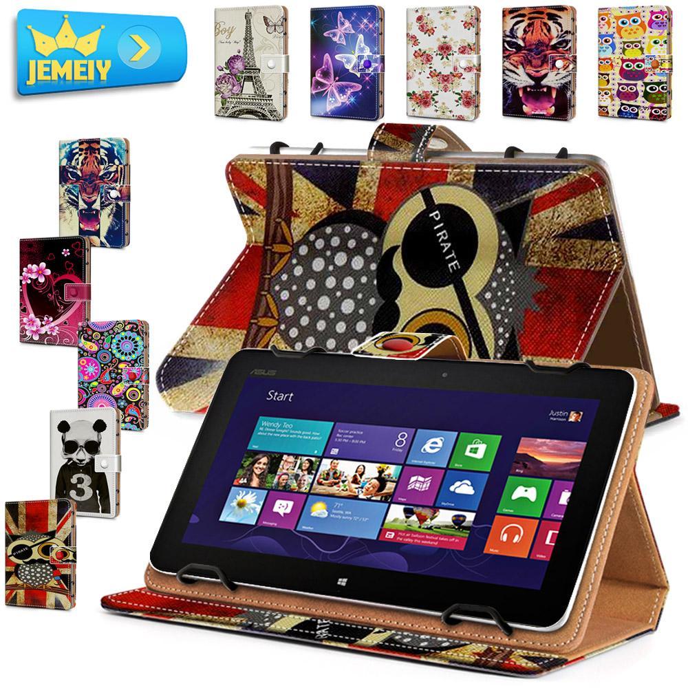 Для ASUS MeMO Pad FHD 10 ME302 ME301T Универсальный ПУ фолио Бумажник Мультфильм Кожаный Чехол Tablet Защитный Чехол Стенд Большой размер