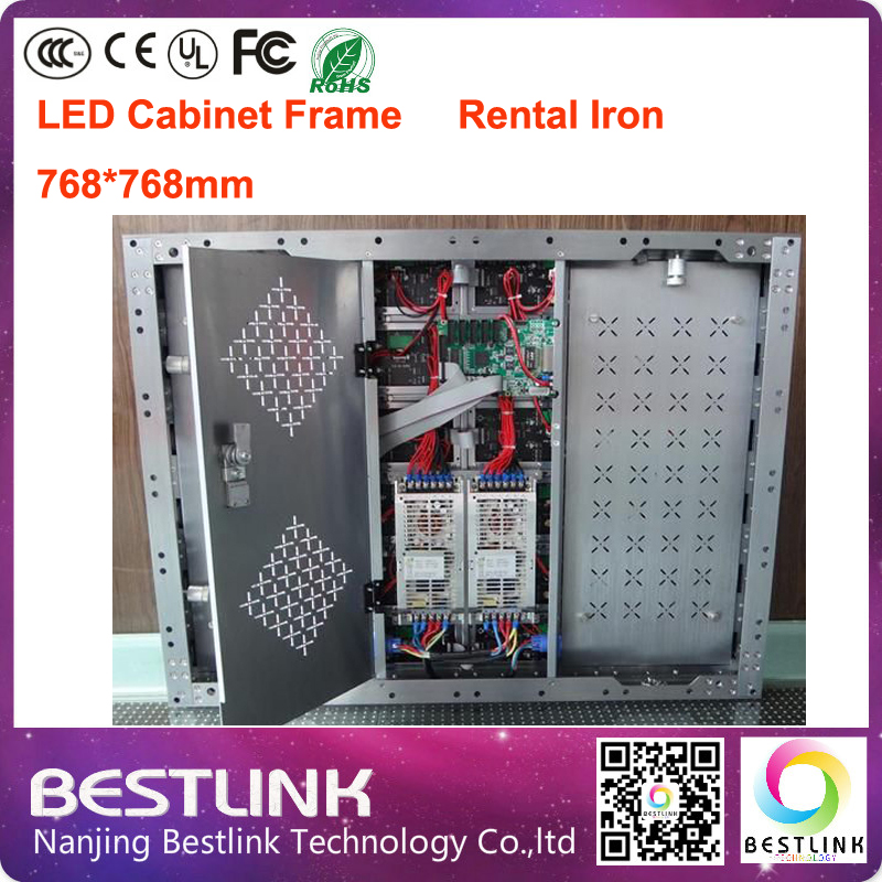 outdoor led cabinet supply rental iron cabinet frame 768*768mm led video wall led sign board for advertising board rental screen(China (Mainland))