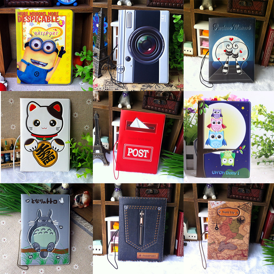 Fashion 3D stereo patten passport holder cover bags identity card document folder travel abroad essential case 2015 New(China (Mainland))