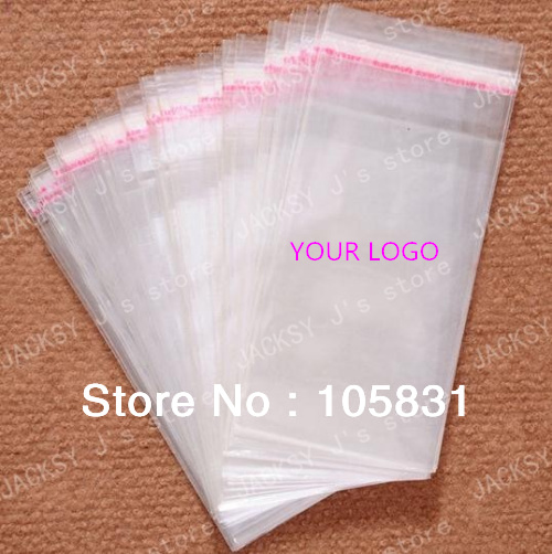 Clear opp plastic bags with self adhesive seal food grade can print custom logo customize all size factory wholesale best price(China (Mainland))