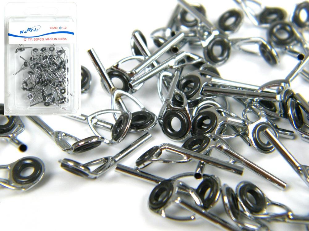 50 pcs dia silver fishing rod repair spare parts rod for Fishing pole repair