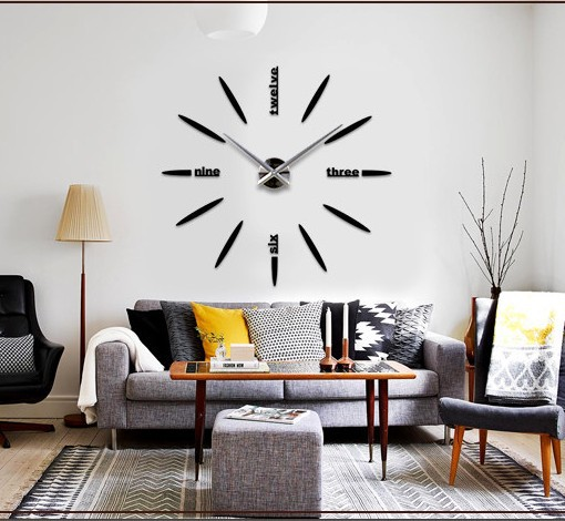Xmas Gifts Creative Home Decorative Big Size Art Clock Simple Design Fashion DIY 3D Wall Clocks - LY gifts store