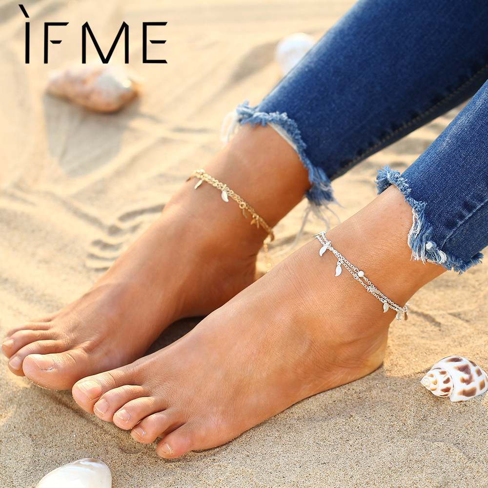 5 Style Brand New Bohemian Silver Color Women Anklet Girl Popular Gold Color Multi-layer Turquoise Turkish Bracelet Jewelry