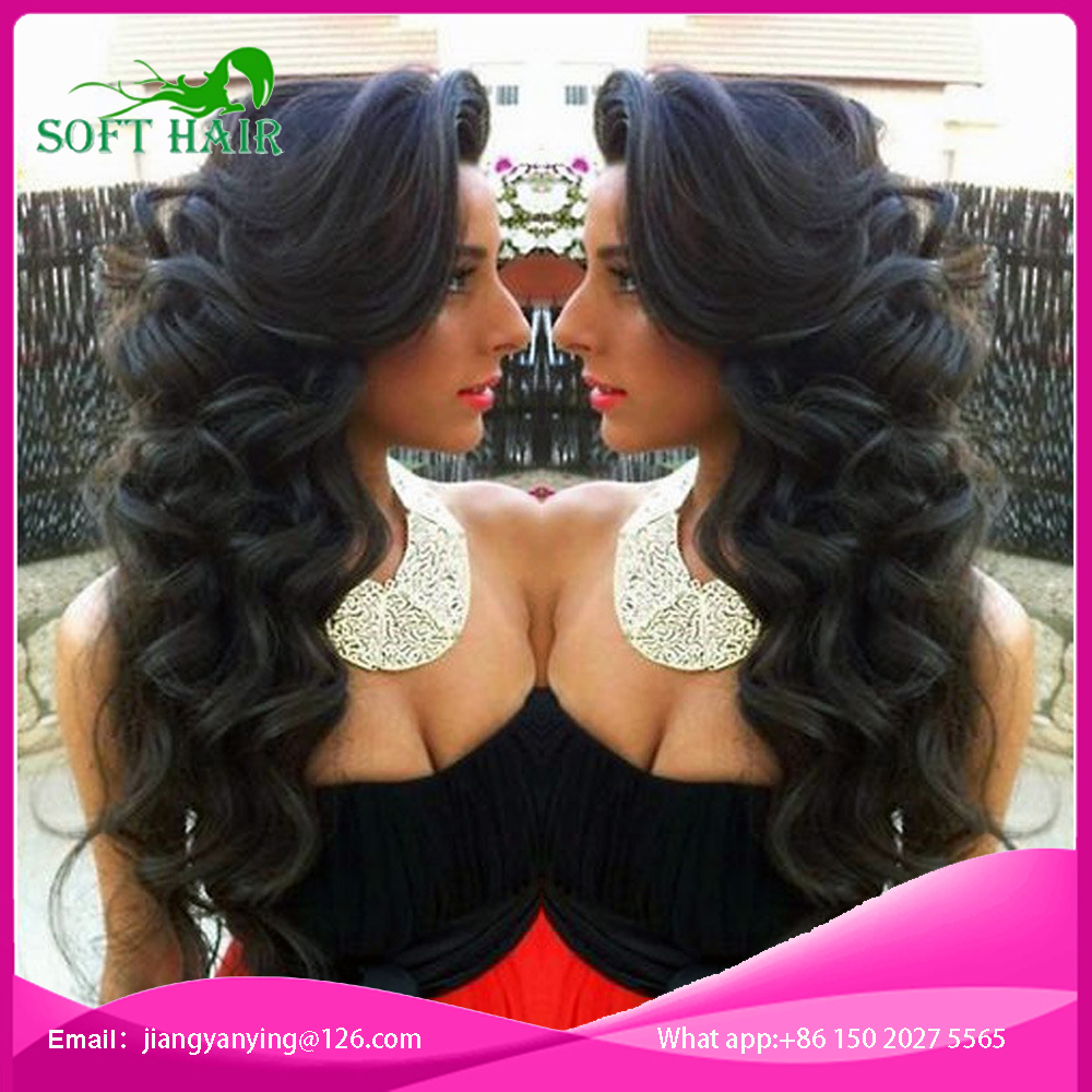 Soft Brazilian Virgin Hair loose Wave 7A Best Human Hair Wigs Glueless Full Lace Human Hair Wigs For Black Women Lace Front Wig(China (Mainland))