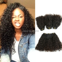 Sunnymay Hair Weft Unprocessed 100% Indian Virgin Human Hair Natural curly Hair Extension In Stock