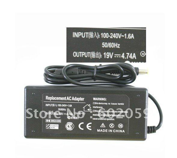 Free Shipping Power Adapter Charger AC 100-240V to DC 19V 4.74A Adapter for Acer Laptop