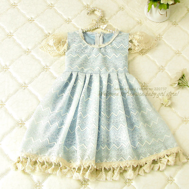 Baby girls dresses summer 2015, wholesale kids clothes,5pcs/lot(1250813),2-7 years<br><br>Aliexpress