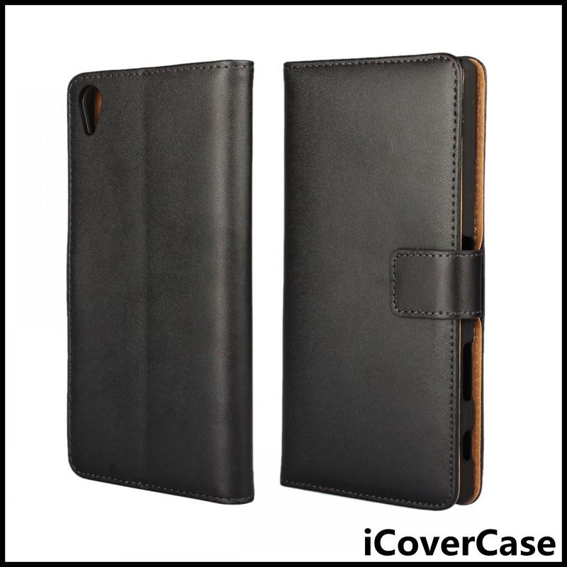 Book Flip Stand Wallet Genuine Leather Cover Case for Sony Xperia Z5 Premium / Z5 Plus / Z5 Ultra E6833 E6853 E6883