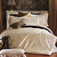 Luxury bedding set jacquard for wedding cotton duvet cover set super king queen bed clothing bedding sets bed linen ropa de cama(China (Mainland))