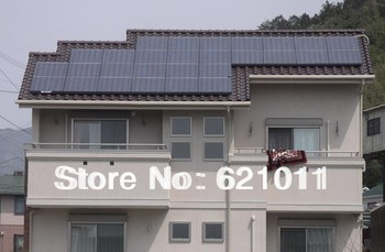 7kW on grid solar home system, home solar generaror includes 28pcs mono 250Wp solar panels, single phase output