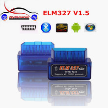 Fast Shipping Super Mini ELM327 OBD2 Bluetooth V1.5 327 ELM Mini Auto Car Diagnostic Interface Scanner Accessories(China (Mainland))