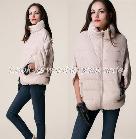 2014 sale full new ladies fashion down coat winter jacket outerwear Bat sleeve in thick women