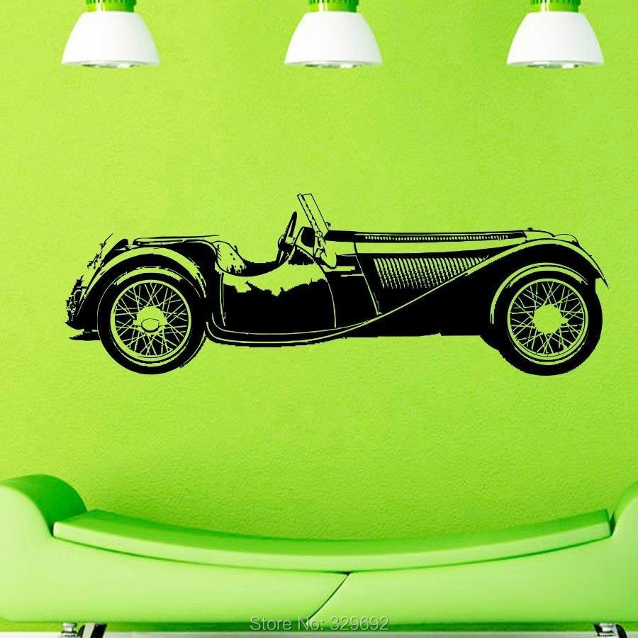 free shipping CLASSIC OLD CAR HOT ROD MUSCLE Wall Decor Wall Sticker Home Decor(China (Mainland))