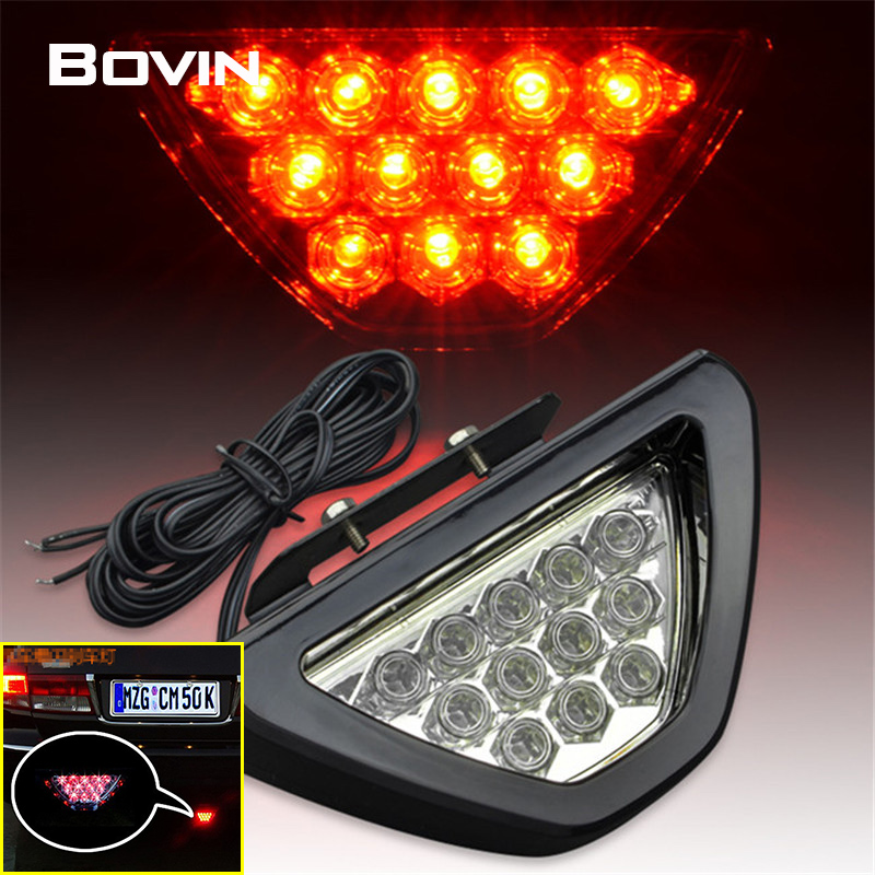 Universal Fit 12V Car Red Brake Light Tail Rear Fog Lamp Emergency Warning Stop Decoration Light Backup Reversing Flashing Light(China (Mainland))