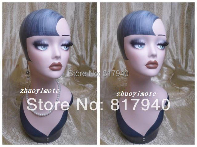Wholesale High quality Fiberglass vintage female mannequin dummy head bust for earrings &wigs & hat & jewelry display(China (Mainland))
