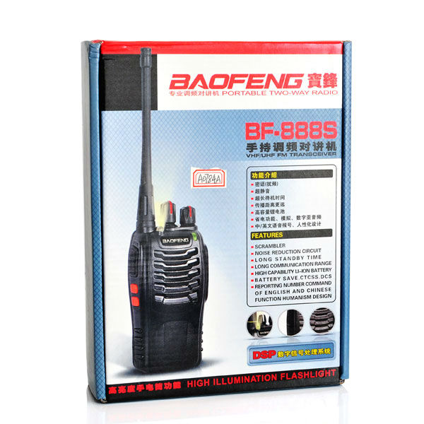 2pcs Baofeng BF-888S Walkie Talkie 5W UHF 400-470MHZ Handheld Portable Radio Two Way Radio 888S A0784A Free headset(China (Mainland))