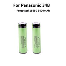 2PCS 2015 New Original 18650 3400mAh battery 3.7V Li-ion Rechargeable battery PCB Protected For panasoni c NCR18650B 3400 mah