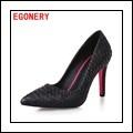 Egonery zapatos 2017 caliente creativo moda mujeres zapatos punta estrecha high heels maduro pu de cuero sólido bombas elegantes zapatos de fiesta