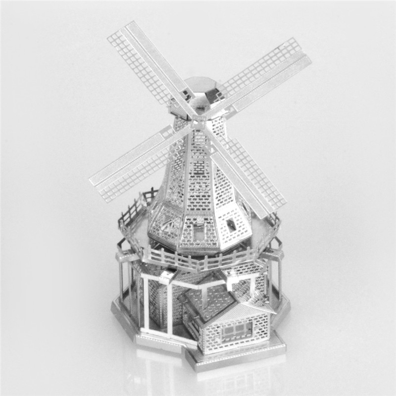 Starz Windmills 3D DIY Puzzles Metal Mini Model Craft Stainless Steel Construction Building Kits Toys Gifts(China (Mainland))
