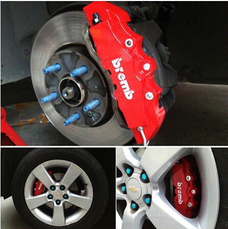 4pcs Universal Car Auto Brembo Style Disc Brake Caliper Covers Front And Rear RD 5 Colors(Please choose the color you need)(China (Mainland))