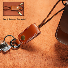 ELIANT Leather Keychain Cables Fast Charger Adapter for iPhone 6 6s Plus 5s iPadmini for Xiaomi Samsung Huawei Mobile Phone