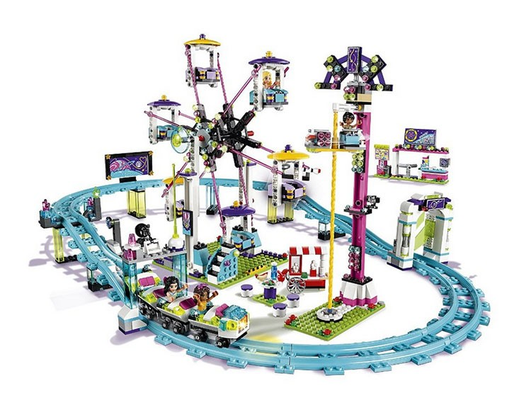 LEPIN 01008 1124Pcs Amusement Park Curler Coaster Constructing Block Minifigures Blocks Bricks Toys legoe mates for woman 41130