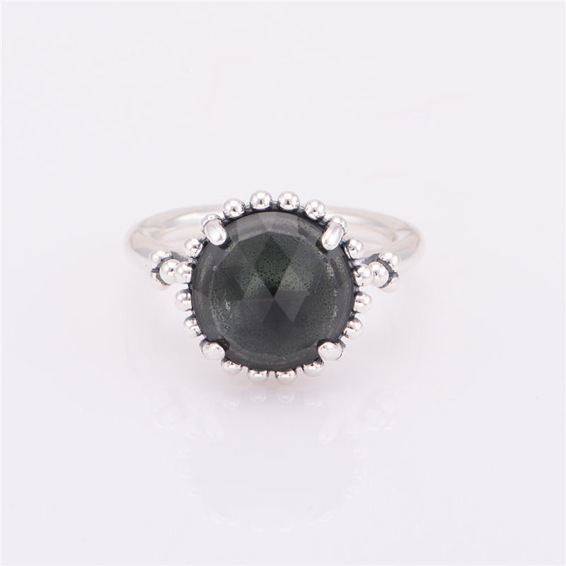 Big Midnight Zircon Crystal Rings Original 925 Sterling Silver Engagement Rings Women Famous Brand Jewelry Accessories RIP116(China (Mainland))