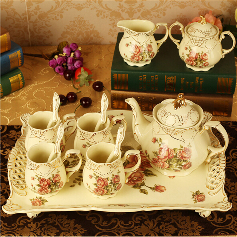 European Style 2015 Ceramic Coffee Cup Sets Advanced Porcelain Drinkware For Coffee Mugs For Wedding