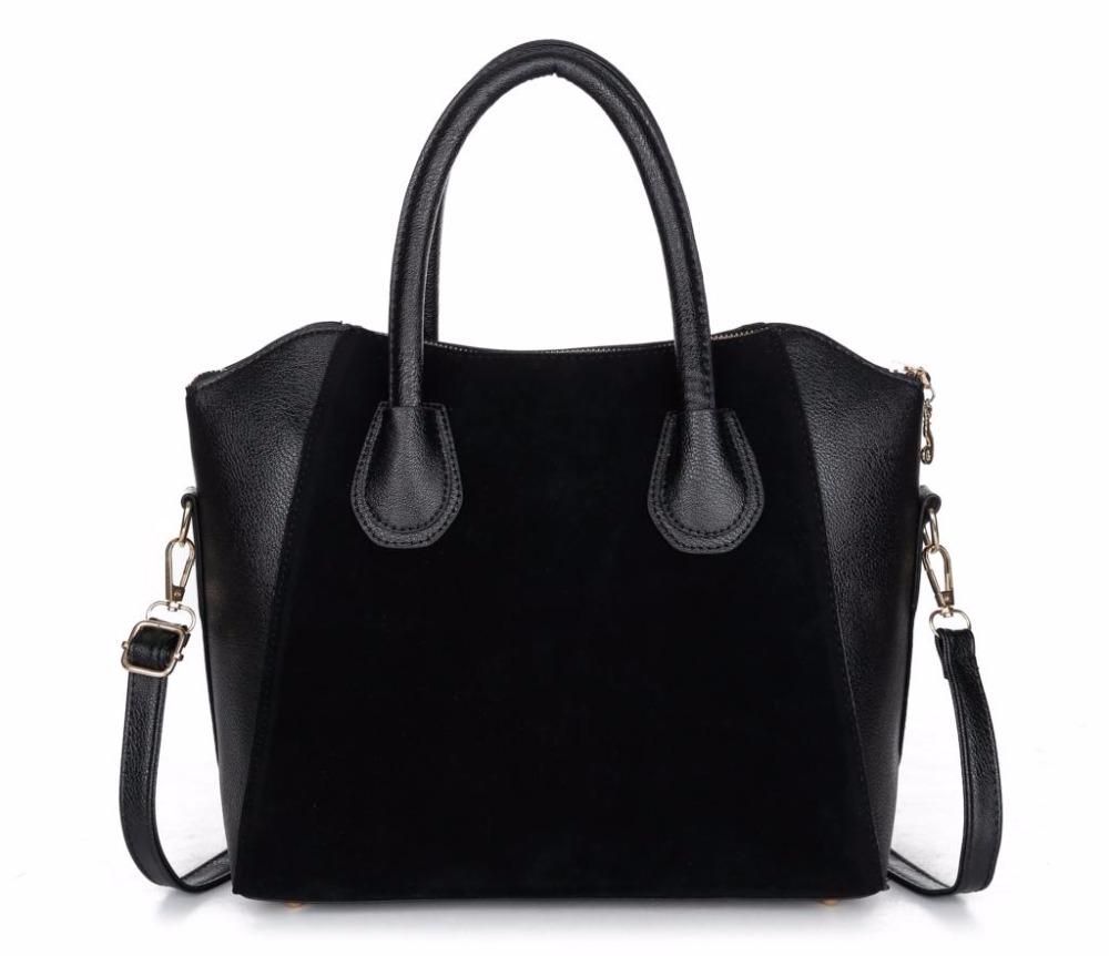 2015 women handbag spring nubuck leather bags women messenger bag free shipping(China (Mainland))