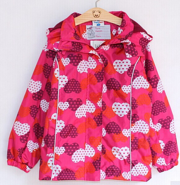 2015 New Baby Girls Coat Jacket Wind and Rain in Spring and Autumn Print Children Outerwear Clothing<br><br>Aliexpress