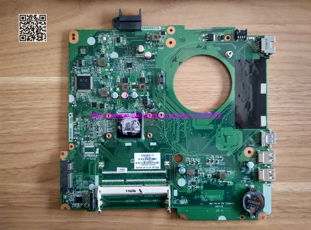 779457-501 for HP 15-F Series 779457-501 UMA N2830 DA0U87MB6C2 laptop motherboard tested &amp; working perfect<br><br>Aliexpress