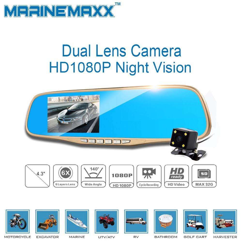 Car Camera DVR GPS Navigation Dual Lens Rearview Mirror Video Recorder FHD 1080P Automobile Camcorder Night Vision Car Camera(China (Mainland))