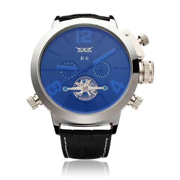 Jaragar бренд класса люкс автоматическая механическая мода маховик мужчины наручные часы календарь мужские часы 2016 New бесплатная доставка
