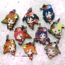 Kotori Nico Eli Rin Umi Maki Anime Love Live! Lovelive! Flag Idolized Version Rubber Resin Kawaii Keychain Pendant