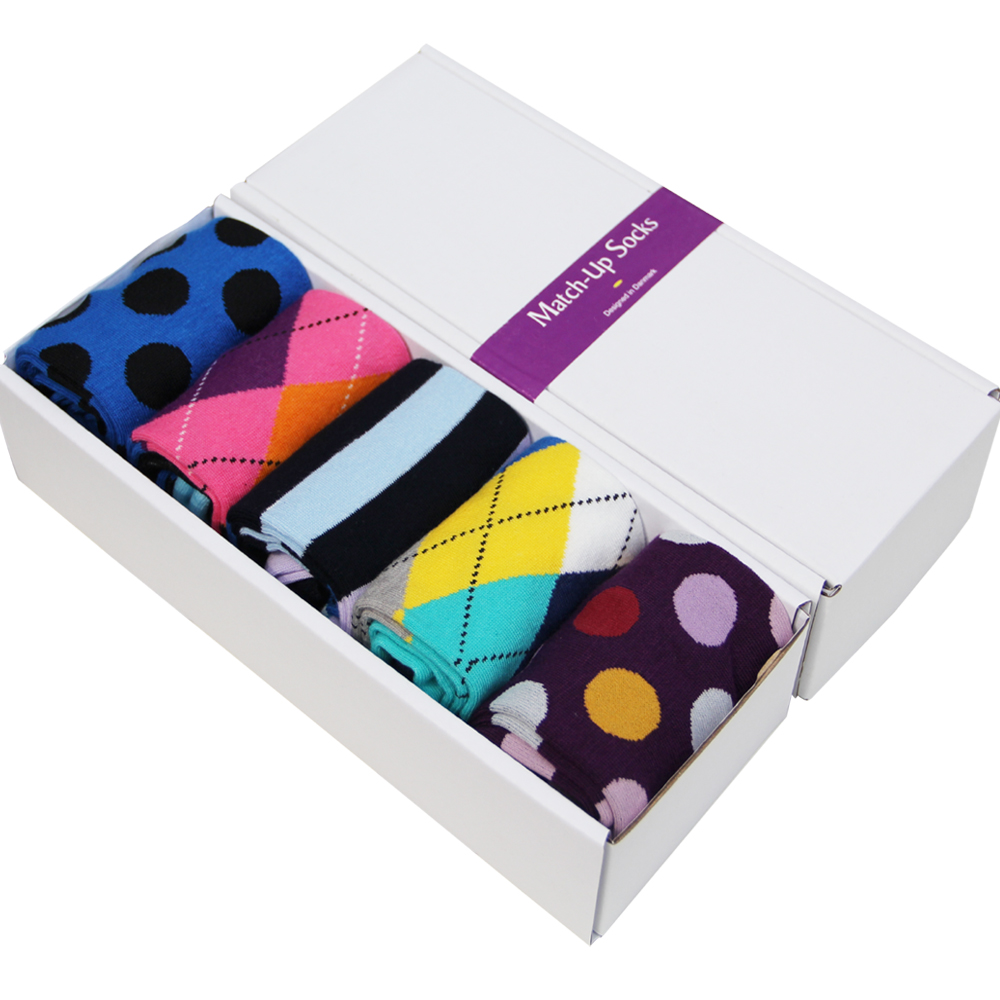 Mens gift box Combed cotton socks  brand men colorful mens socks dot pattern US Size(7.5-12) (5 pairs /box) gift-IОдежда и ак�е��уары<br><br><br>Aliexpress