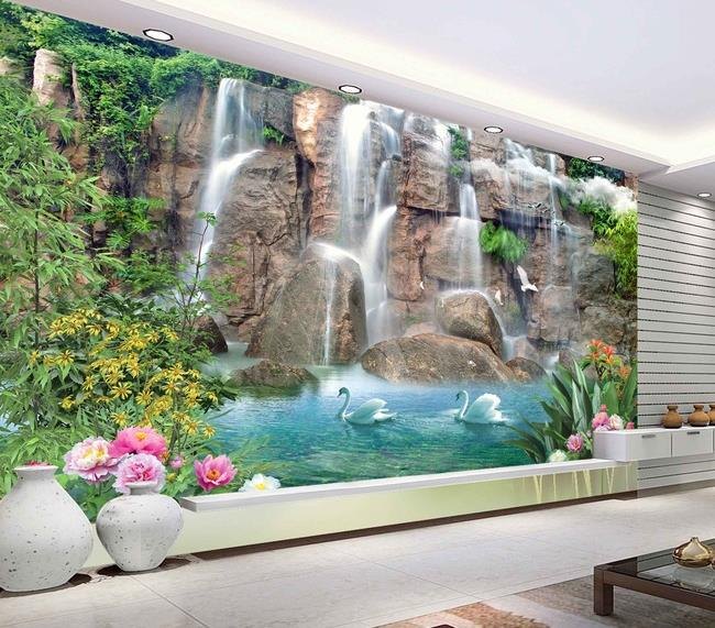 High quality hd beautiful water making money wallpaper 3d for Beautiful wall mural