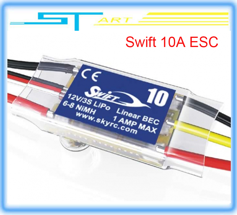 5 pcs Skyrc Swift 10A ESC brushless motor esc for remote control car rc drones quadrocopter helicopter boat low ship hot selling(Hong Kong)
