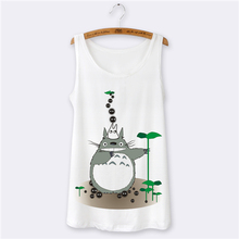 Hot ! Totoro Animal 3D Print Sexy Sleeveless Women Tank Tops Summer Style O-neck Camisetas y Tops for Tank Top Women White Vest(China (Mainland))