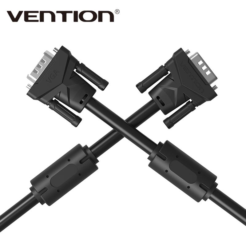 Vention VGA to VGA Cable Male to Male Black High Premium HDTV VGA Cabo 1m/2m/3m/5m(China (Mainland))