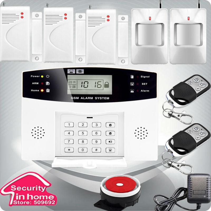Гаджет  Wireless LCD GSM Alarm System Autodial Home House Office Intruder Security None Безопасность и защита