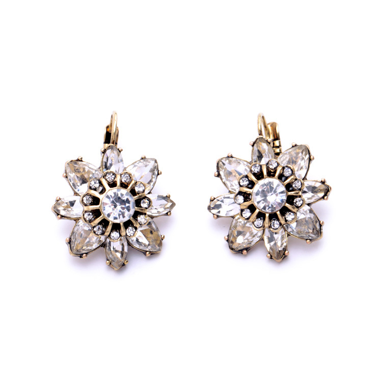 Small Mixed Flower Alloy Clip Earrings Wholesale Generous Lovely jewelry HAE0040(China (Mainland))