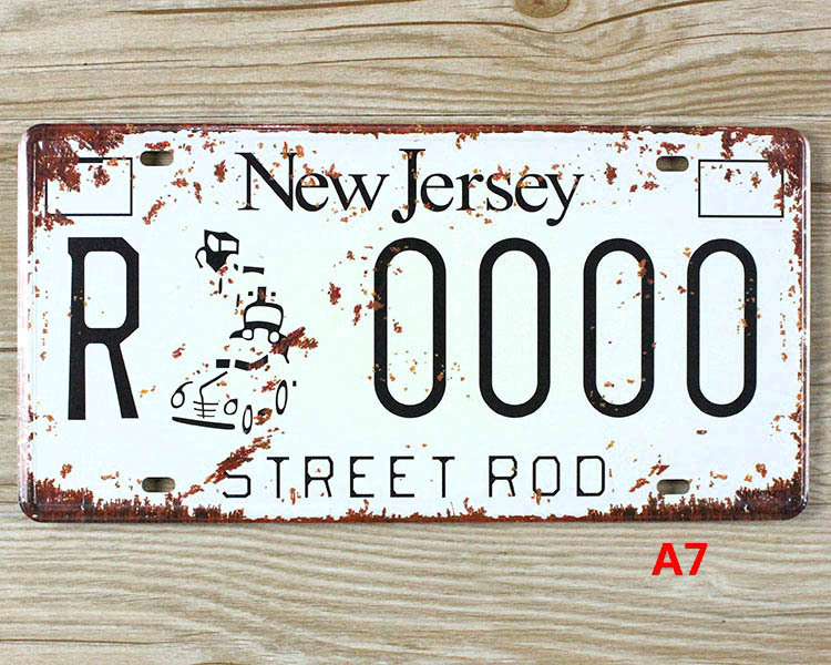 Buy New Jersey Lisence Car Plate Vintage