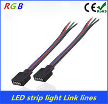 1Pcs 4pin PCB board connector wire LED RGB Light Strips 4 pinFemale Connector Wire Cable For SMD 5050/3528 RGB LED Strip light