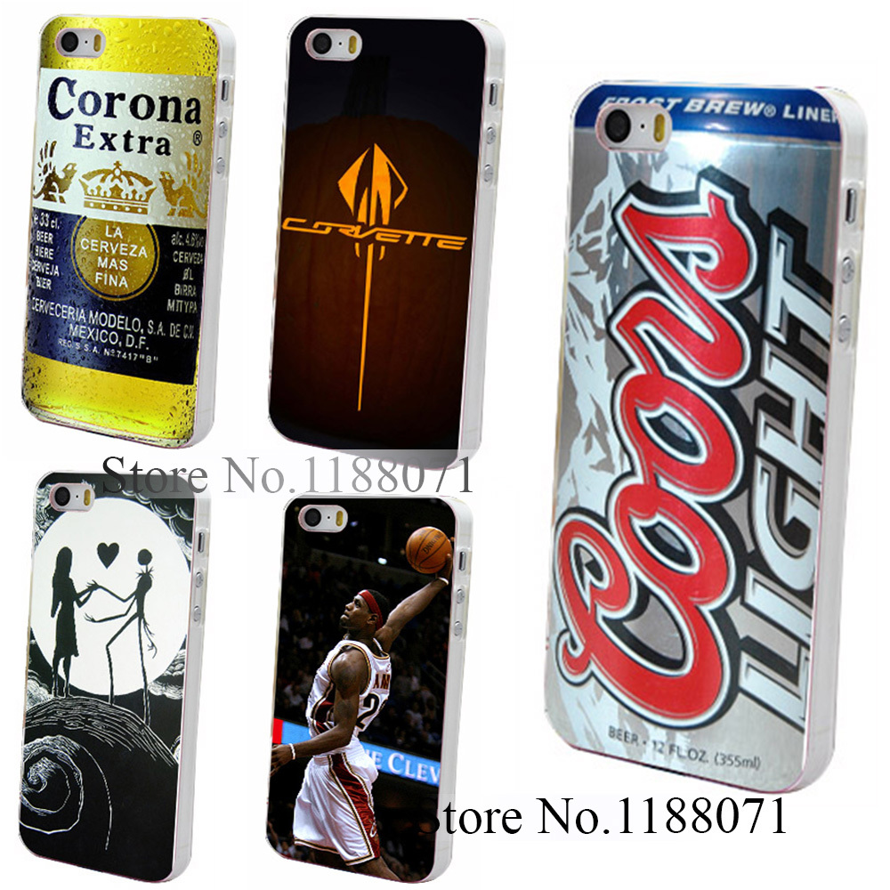 Hard Clear Skin Back Case Cover for iPhone 4 4s 4g 5 5s 5g coors light Style(China (Mainland))