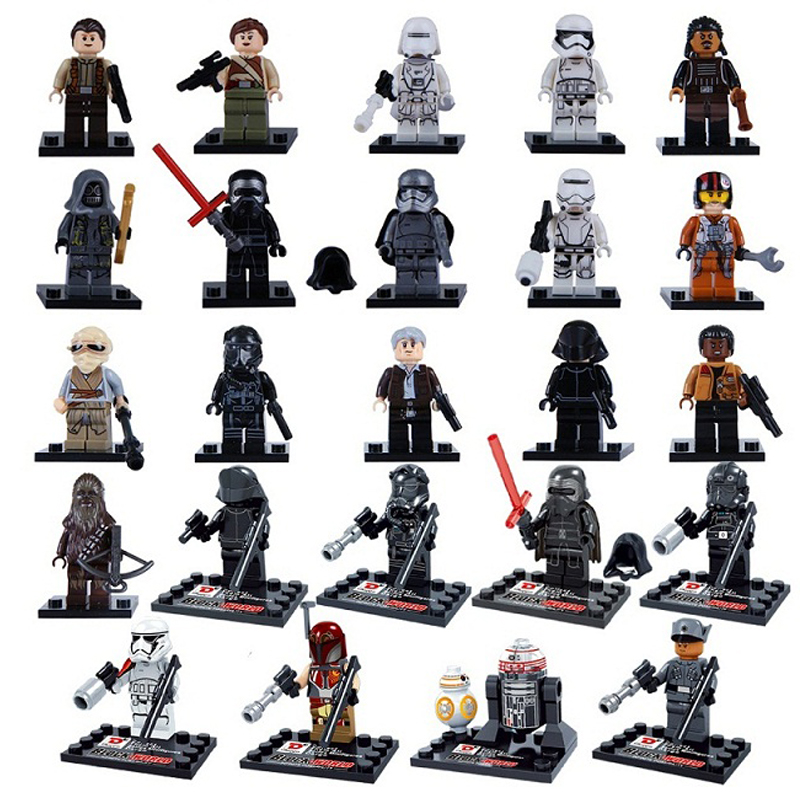 Single Sale Star Wars The Force Awakens Phasma Kylo Ren Darth Vader Minifigures Building Blocks Bricks Toys Compatible with lego(China (Mainland))