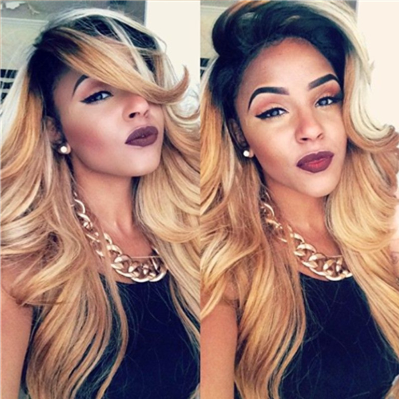 Hot Ombre Hair Extensions 5A Brazilian remy Hair Body Wave Queen Hair Products Two Tone #1B/27 Human Hair Weaves Free Shipping<br><br>Aliexpress