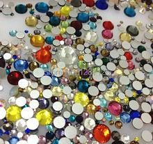 Frete grátis Mixed 10 g/saco 3D decorações Nail Art não Hotfix cristal strass para unhas DIY