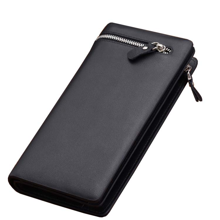 Brand Genuine pu Leather Men Wallets Business Card holder